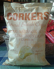 Pork Sausage and English Mustard Flavour Crisps