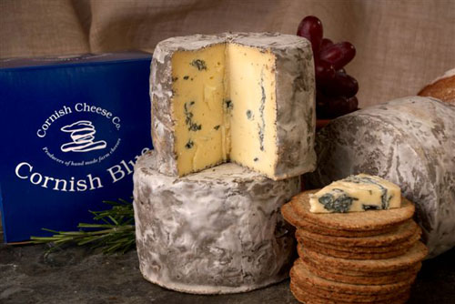 Blue cheese made in Cornwall